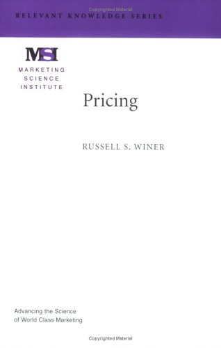 9780965711463: Pricing (Marketing Science Institute (MSI) Relevant Knowledge Series)