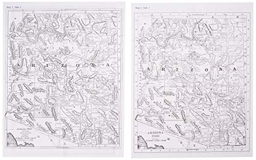 9780965755887: Arizona, Ghost Towns, 6 Map Set Then & Now