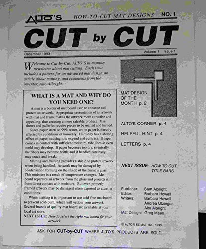 Alto's Cut-By-Cut How-To-Cut Mat Designs: Collection: Unknown