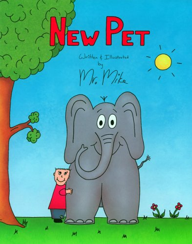 New Pet in Blue Color Dustjacket Large: Written & Illustrated