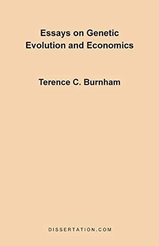 9780965856423: Essays on Genetic Evolution and Economics