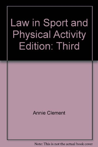 9780965887427: Law in Sport and Physical Activity