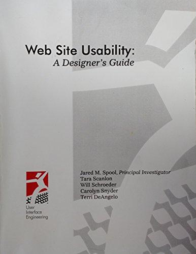 9780966064100: Web Site Usability: A Designer's Guide