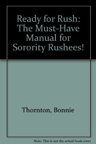 9780966104929: Ready for Rush: The Must-have Manual for Sorority Rushees!