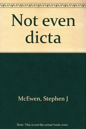 9780966162950: Not even dicta