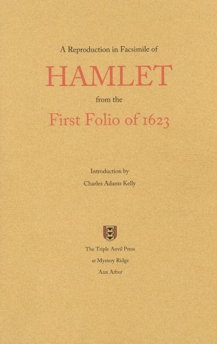 A Reproduction in Facsimile of Hamlet from: William Shakespeare, Charles