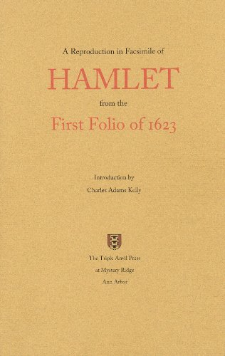 9780966212679: A Reproduction in Facsimile of Hamlet from the First Folio of 1623 - 2nd Edition
