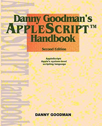 9780966551419: Danny Goodman's Applescript Handbook