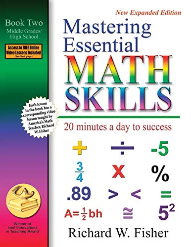 9780966621129: Mastering Essential Math Skills: 20 Minutes a Day to Success, Book 2: Middle Grades/High School