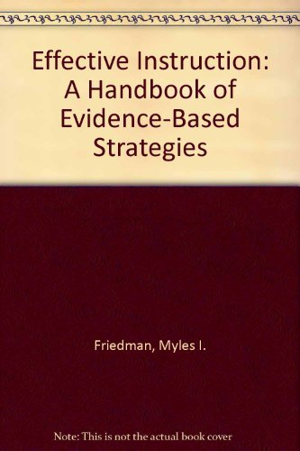 9780966658842: Effective Instruction: A Handbook of Evidence-Based Strategies