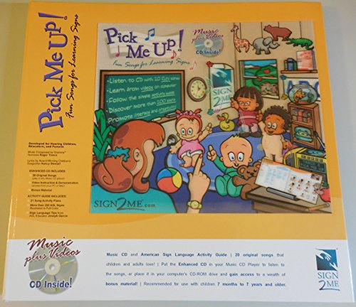 9780966836783: Li'L Pick Me Up! Fun Songs for Learning 200+ ASL Signs - Printed Book plus Enhanced Music CD plus Digital Download Activity Guide