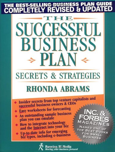 9780966963526: The Successful Business Plan: Secrets and Strategies (Successful Business Plan Secrets and Strategies, 3rd ed)