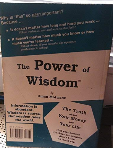The Power Of Wisdom: The Truth About: Motwane, Aman.