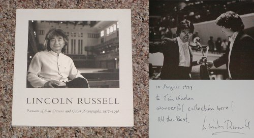 Lincoln Russell: Portraits of Seiji Ozawa and Other Photographs, 1978-1998: James A. Ganz, John ...