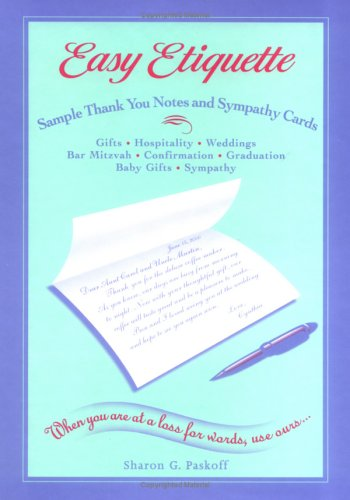 9780967347219: Easy Etiquette Sample Thank You Notes and Sympathy Cards