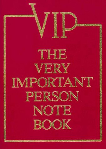 9780967606149: Very Important Person Note Book
