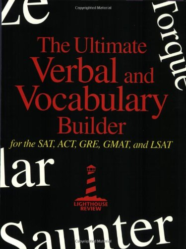 9780967759418: Ultimate Verbal and Vocabulary Builder for SAT, ACT, GRE, GMAT, and LSAT