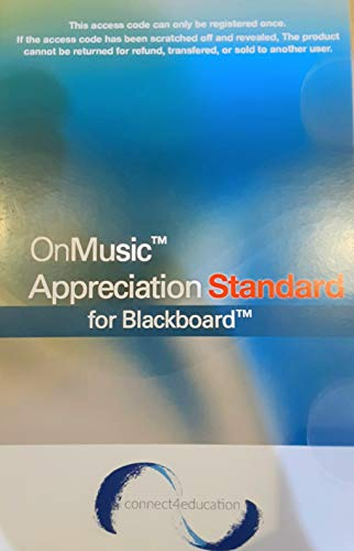 9780967774794: On Music Appreciation: Standard For Blackboard