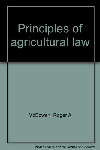 9780967785608: Principles of Agricultural Law