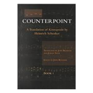 9780967809908: Counterpoint : A Translation of Kontrapunkt