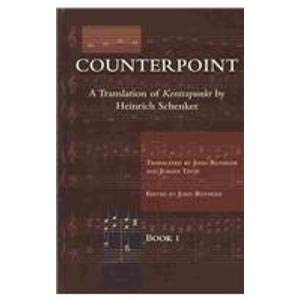 9780967809915: Counterpoint: A Translation of Kontrapunkt: Cantus Firmus and Two-Voice Counterpoint, Book 1: 2