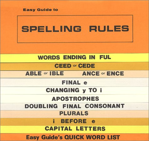 9780967909387: Spelling Rules