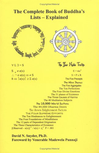 9780967928517: The Complete Book of Buddha's Lists -- Explained