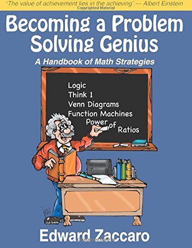9780967991597: Becoming a Problem Solving Genius: A Handbook of Math Strategies