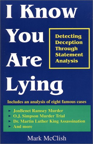 I Know You Are Lying: Mark McClish