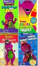 9780968365533: barney set 5 vhs : Barney In Concert (1992), Barney: Barney's Home Sweet Homes, Barney's Alphabet Zoo (1992), Colors & Shapes (1992)
