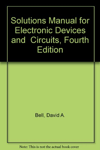 9780968370551: Solutions Manual for Electronic Devices and Circuits