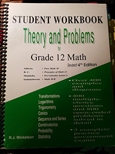 9780968592267: Theory and Problems for Senior High Math - Student Wookbook - Fourth Editon