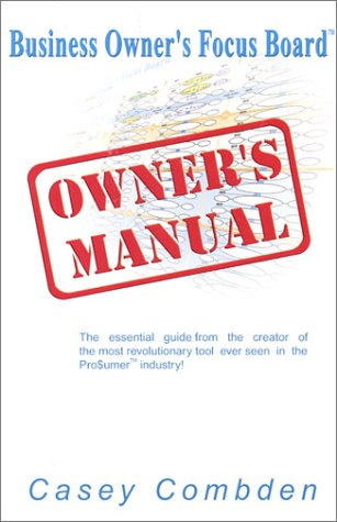 9780968976333: Business Owner's Focus Board Owner's Manual
