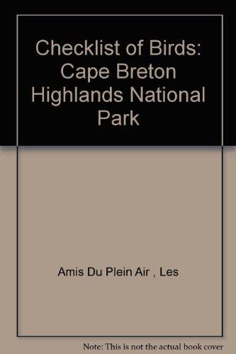 9780969139201: Checklist of Birds: Cape Breton Highlands National Park