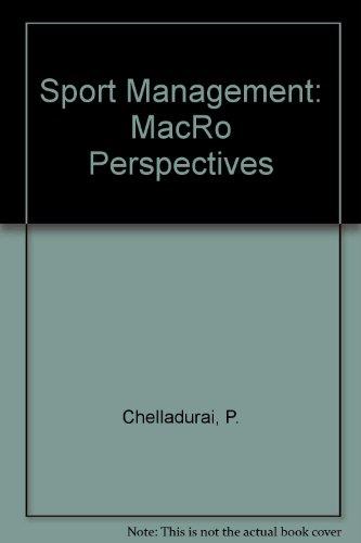 9780969161929: Sport Management: MacRo Perspectives
