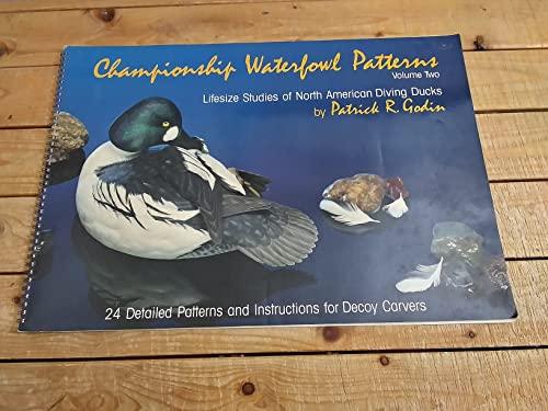 9780969284116: Championship Waterfowl Patterns: Lifesize Studies of North American Diving Ducks