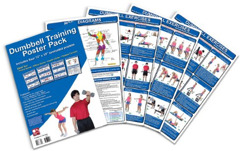 9780969677338: Dumbbell Training Poster Pack: Dumbbell Workout Routines - Dumbbell Exercises Poster - Dumbbell Workout Chart - Dumbbell Workout Poster - Dumbbell ... Fitness Wall Chart - Strength Training Poster
