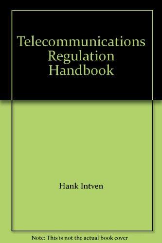 9780969717874: Telecommunications Regulation Handbook