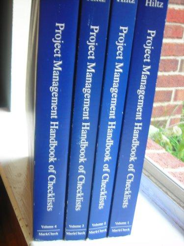 9780969720218: Project Management Handbook of Checklists (4 Volume Set)