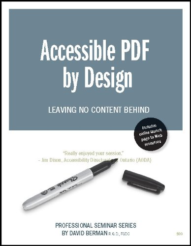 9780969767138: Accessible PDF By Design | Leaving No Content Behind