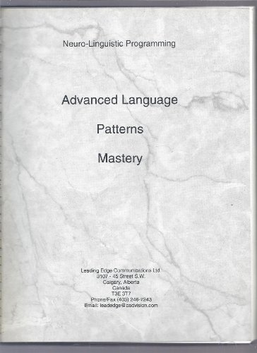 9780969800903: Advanced Language Patterns Mastery