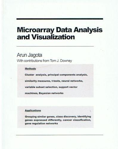 Microarray Data Analysis and Visualization: Jagota, Arun