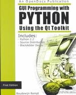 9780970033048: Gui Programming With Python: Using the Qt Toolkit