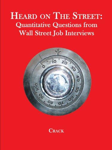 9780970055293: Heard on the Street: Quantitative Questions from Wall Street Job Interviews