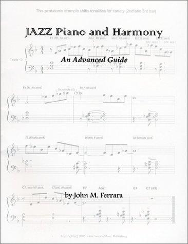9780970136725: Jazz Piano & Harmony : An Advanced Guide (w/CD)