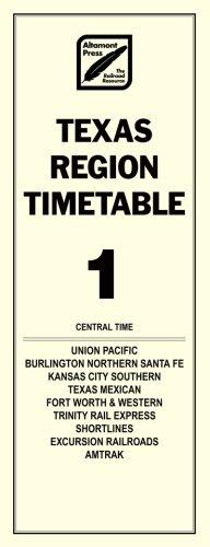 9780970144263: Texas Region Timetable #1