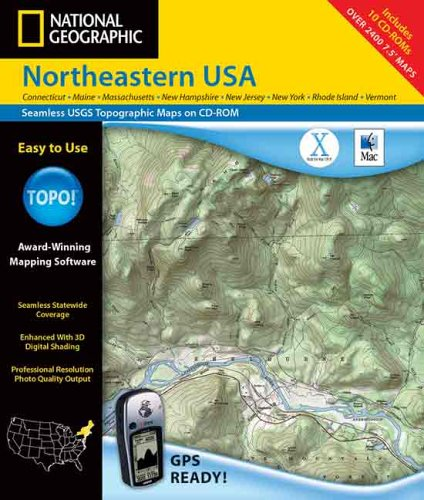 9780970153012: Northeastern USA 8 Complete States - Maine,New Hampshire,Vermont,Connecticut,Massachusetts,New Jersey,Rhode Island - TOPO State Series CD-Rom