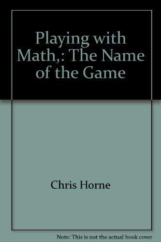 Playing with Math: The Name of the Game (Book CD-ROM)