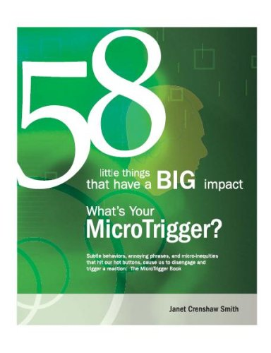 58 little things that have a BIG impact: What's Your MicroTrigger?: Janet Crenshaw Smith