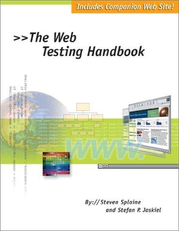 9780970436306: The Web Testing Handbook